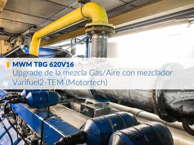 MWM TBG 620V16 Upgrade de la mezcla Gas / Aire (mezclador Varifuel2-TEM)