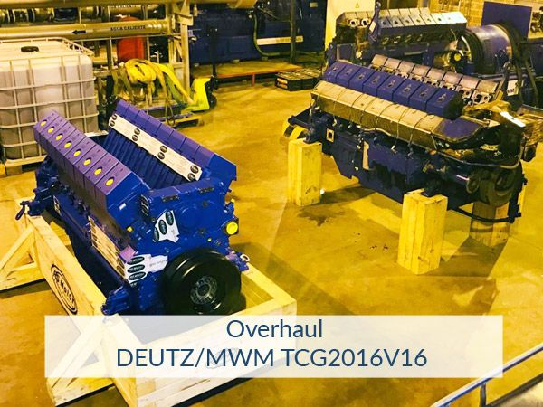 Overhaul en motores DEUTZ/MWM TCG2016V16