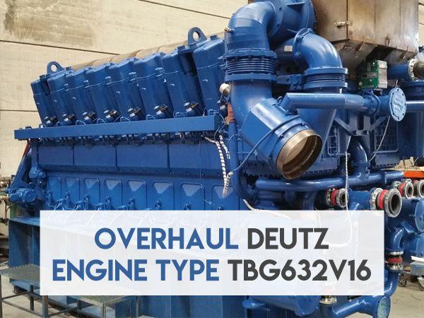Mantenimiento E70 (Overhaul) de un motor DEUTZ TBG632V16