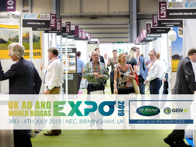 RS MOTOR en la 'UK AD AND WORLD BIOGAS EXPO 2019' de Birmingham