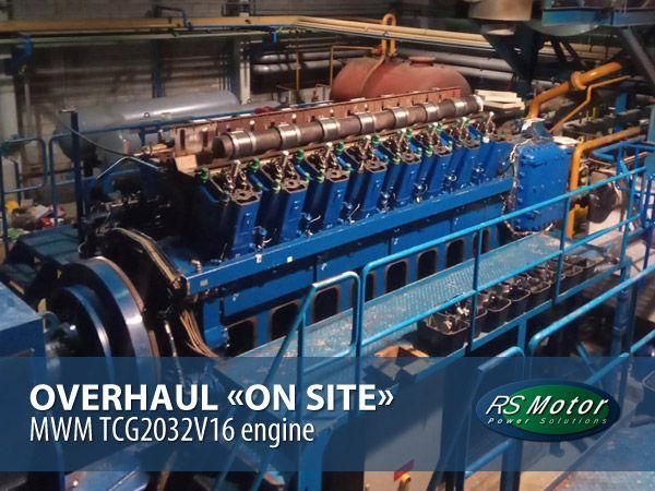 Overhaul en las instalaciones del cliente de un motor MWM TCG2032V16