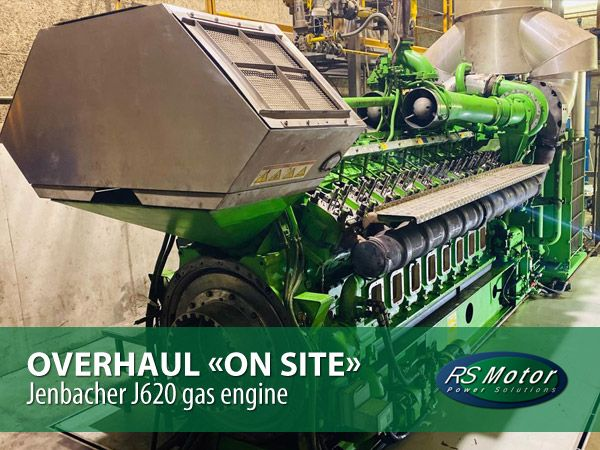 "30.000 hours maintenance on a Jenbacher 620 gas engine ""on-site"""