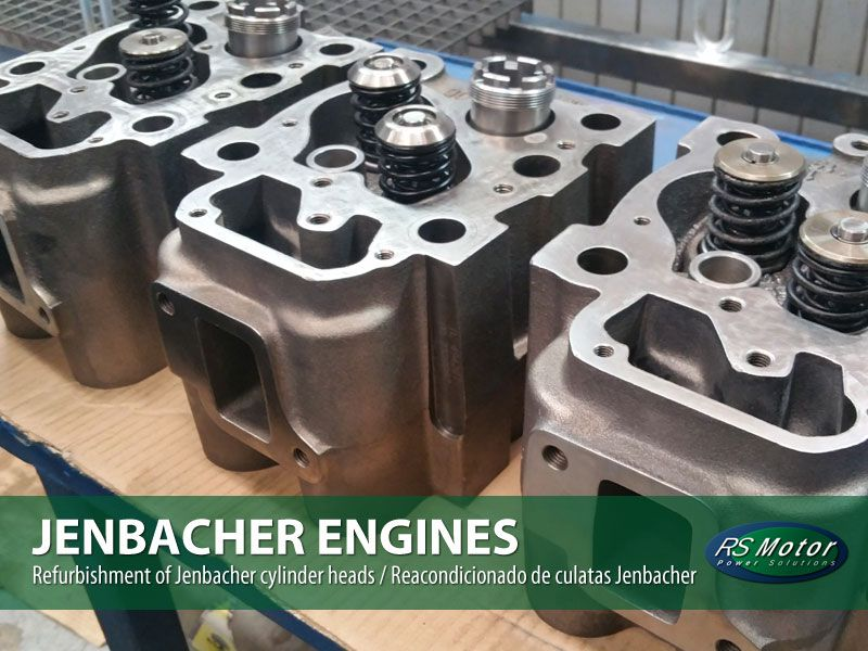 reacondicionado de culatas jenbacher - refurbishment of Jenbacher cylinder heads