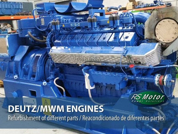 Refurbishment of different parts of DEUTZ/MWM engines