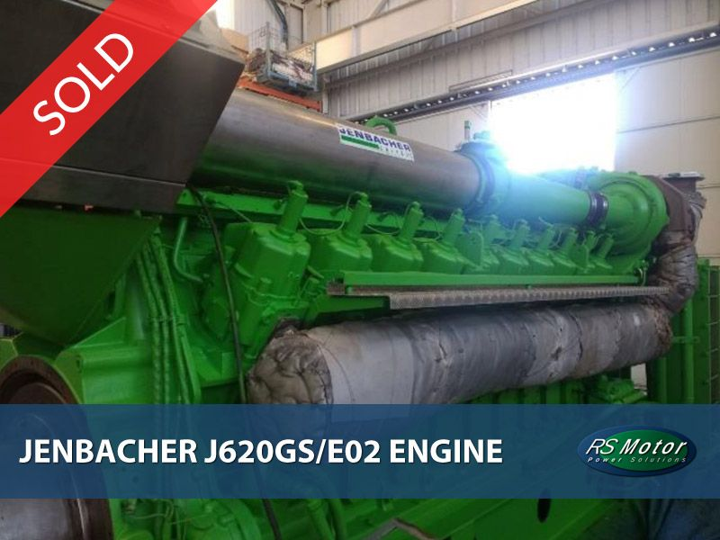 Jenbacher J620 genset engine for sale [SOLD]