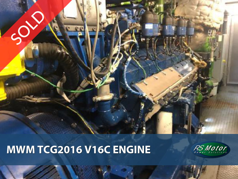MWM TCG2016 V16C engine for sale [SOLD]