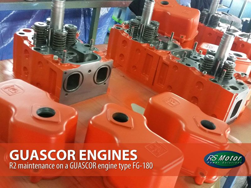 R2-maintenance-on-a-GUASCOR-engine-type-FG-180-mantenimiento-r2-motor-guascor-fg-180