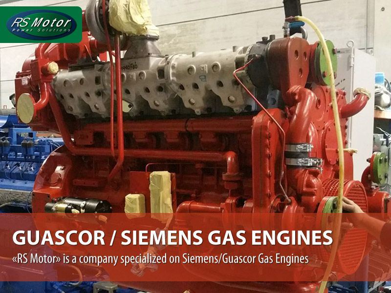 Supply of spare parts and Service on GUASCOR / SIEMENS gas engines