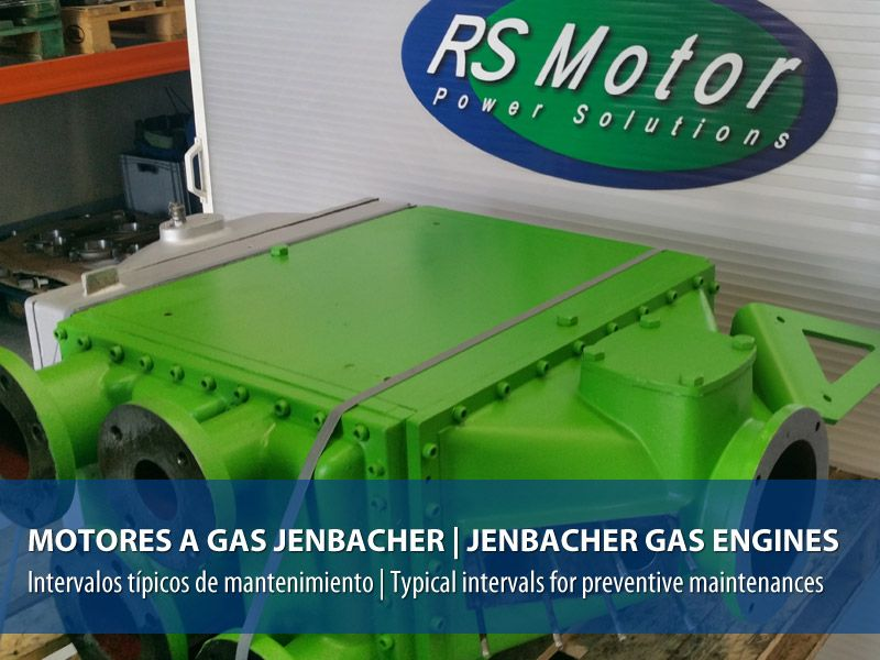 Jenbacher gas engines, typical intervals for preventive maintenances