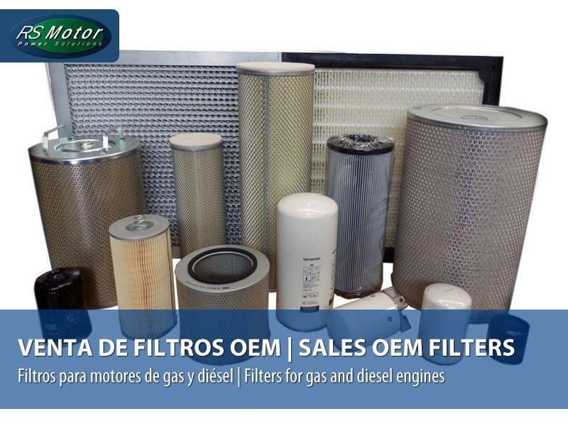 Venta y suministro de filtros OEM para motores diésel y de gas