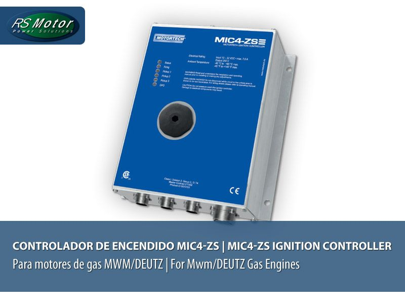 MOTORTECH MIC4 ignition controllers for MWM/DEUTZ Gas Engines