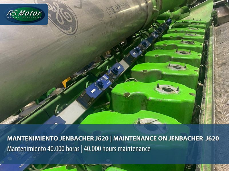 40.000 hours maintenance on Jenbacher J620 gas engine