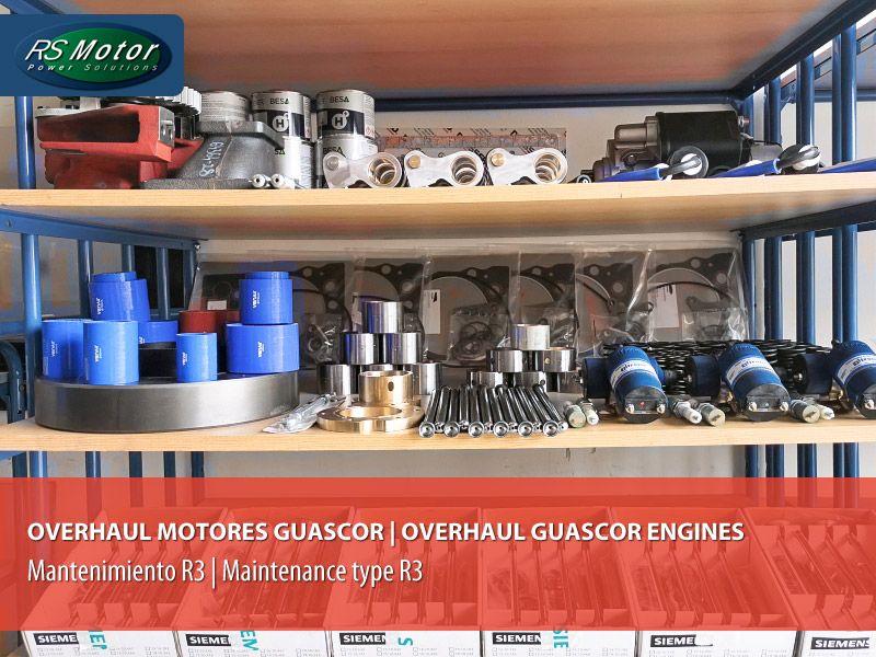 Mantenimiento R3 (Overhaul) sobre un motor Guascor de gas