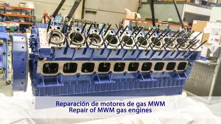 Reparación de motores de gas mwm