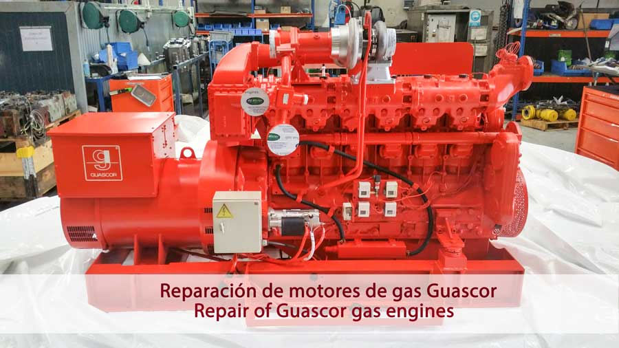 Reparación motores de gas Guascor