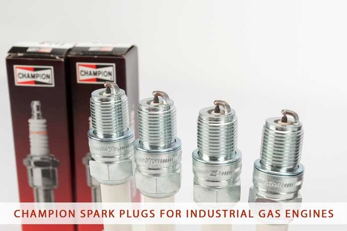 Champion spark plugs for industrial gas engines